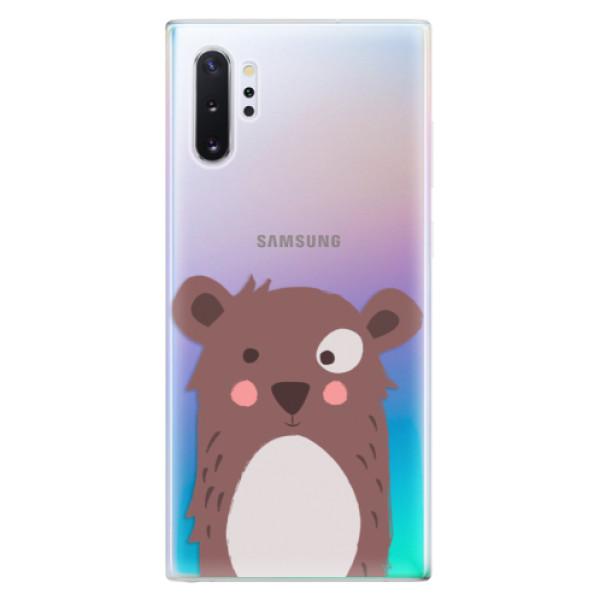 Odolné silikonové pouzdro iSaprio - Brown Bear - Samsung Galaxy Note 10+