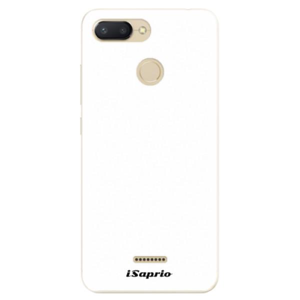 Odolné silikonové pouzdro iSaprio - 4Pure - bílý - Xiaomi Redmi 6