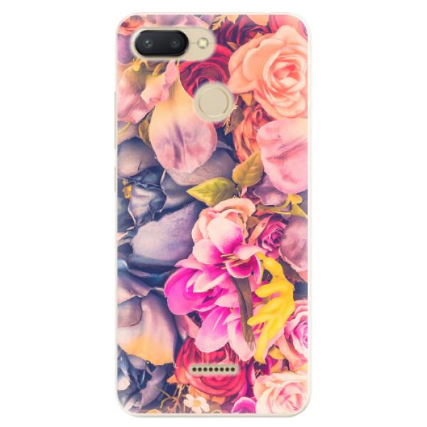Odolné silikonové pouzdro iSaprio - Beauty Flowers - Xiaomi Redmi 6