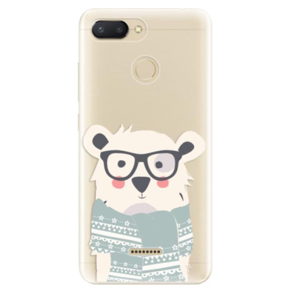 Odolné silikonové pouzdro iSaprio - Bear with Scarf - Xiaomi Redmi 6