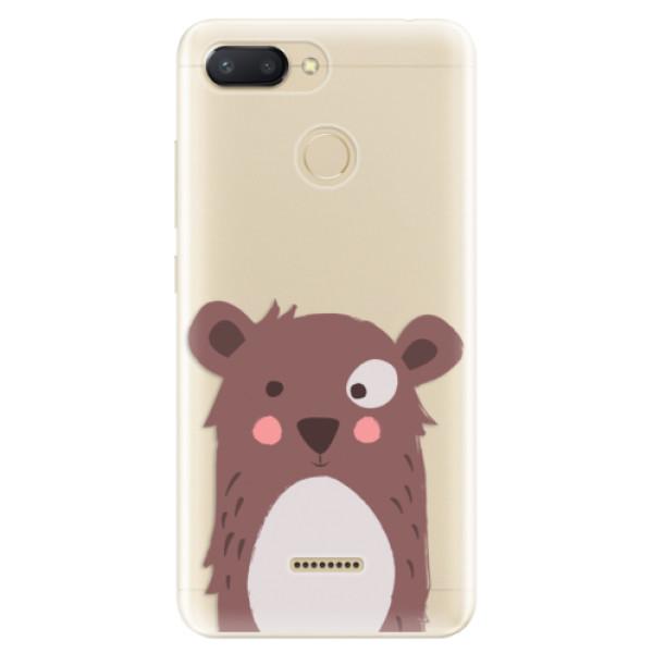 Odolné silikonové pouzdro iSaprio - Brown Bear - Xiaomi Redmi 6