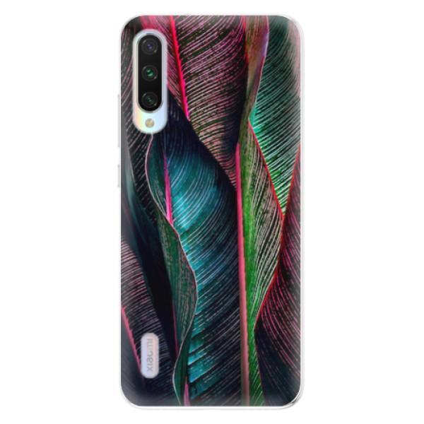 Odolné silikonové pouzdro iSaprio - Black Leaves - Xiaomi Mi A3