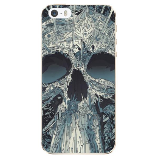Odolné silikonové pouzdro iSaprio - Abstract Skull - iPhone 5/5S/SE