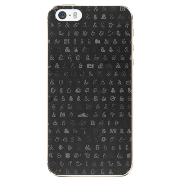 Odolné silikonové pouzdro iSaprio - Ampersand 01 - iPhone 5/5S/SE
