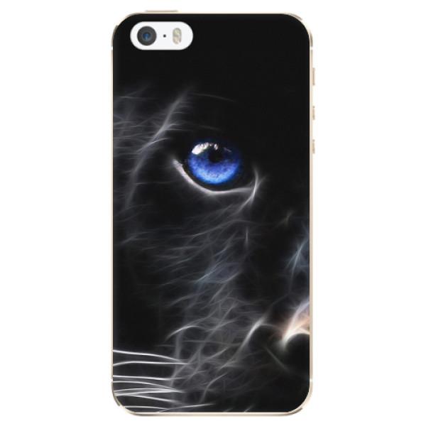 Odolné silikonové pouzdro iSaprio - Black Puma - iPhone 5/5S/SE