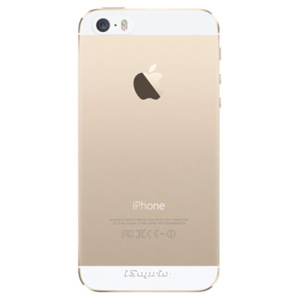 Odolné silikonové pouzdro iSaprio - 4Pure - mléčný bez potisku - iPhone 5/5S/SE