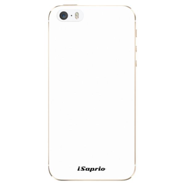Odolné silikonové pouzdro iSaprio - 4Pure - bílý - iPhone 5/5S/SE