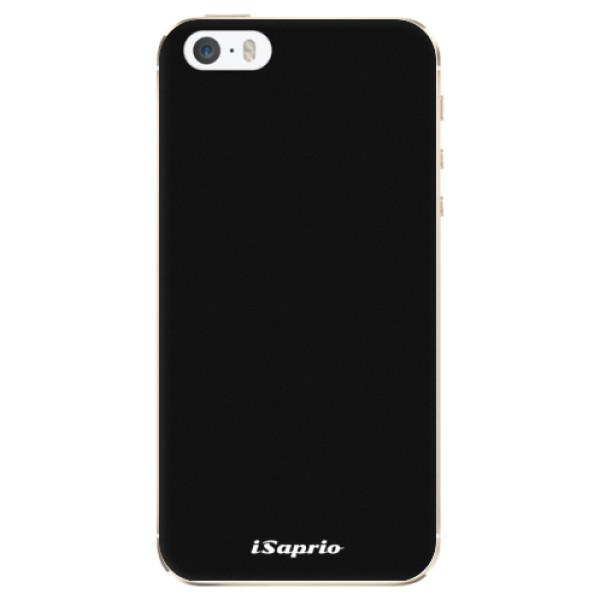 Odolné silikonové pouzdro iSaprio - 4Pure - černý - iPhone 5/5S/SE
