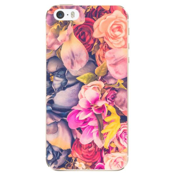 Odolné silikonové pouzdro iSaprio - Beauty Flowers - iPhone 5/5S/SE
