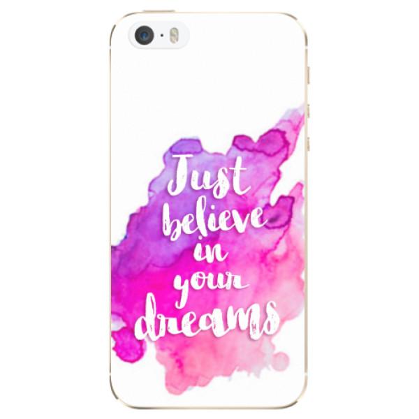 Odolné silikonové pouzdro iSaprio - Believe - iPhone 5/5S/SE