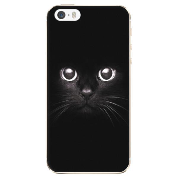 Odolné silikonové pouzdro iSaprio - Black Cat - iPhone 5/5S/SE