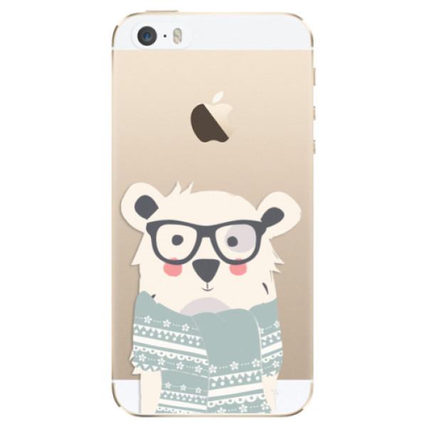 Odolné silikonové pouzdro iSaprio - Bear with Scarf - iPhone 5/5S/SE
