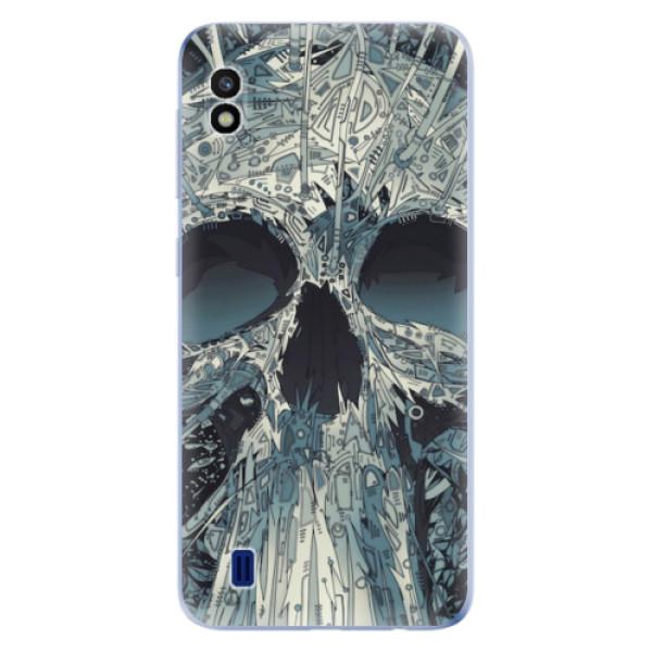 Odolné silikonové pouzdro iSaprio - Abstract Skull - Samsung Galaxy A10
