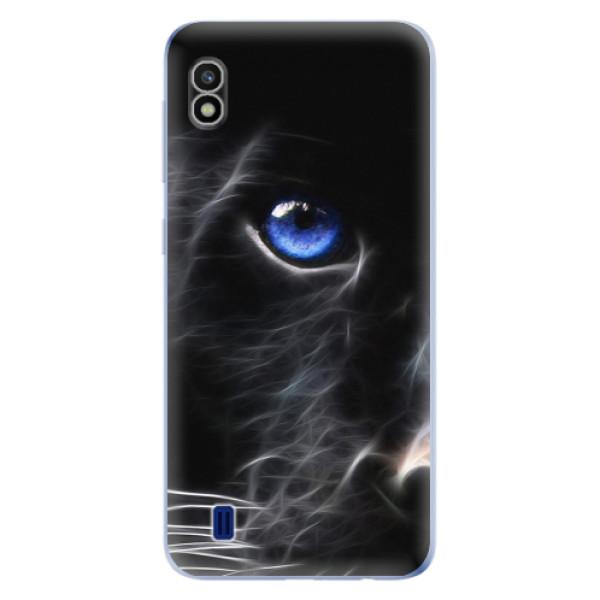 Odolné silikonové pouzdro iSaprio - Black Puma - Samsung Galaxy A10