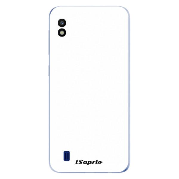 Odolné silikonové pouzdro iSaprio - 4Pure - bílý - Samsung Galaxy A10