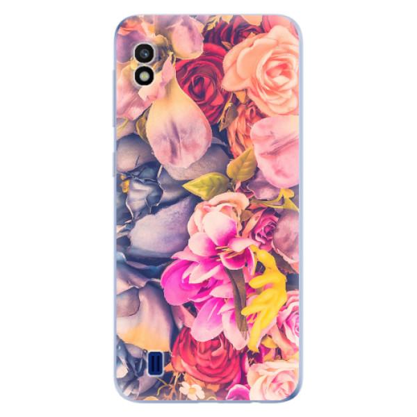 Odolné silikonové pouzdro iSaprio - Beauty Flowers - Samsung Galaxy A10