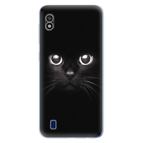 Odolné silikonové pouzdro iSaprio - Black Cat - Samsung Galaxy A10