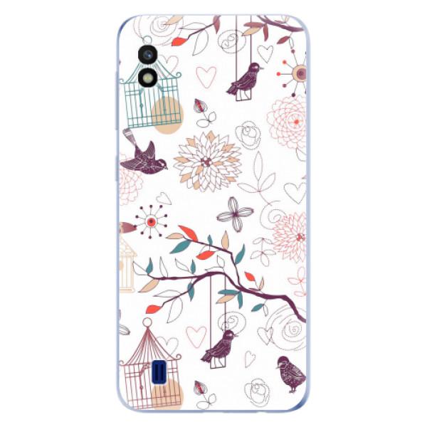 Odolné silikonové pouzdro iSaprio - Birds - Samsung Galaxy A10