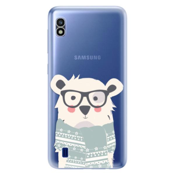Odolné silikonové pouzdro iSaprio - Bear with Scarf - Samsung Galaxy A10