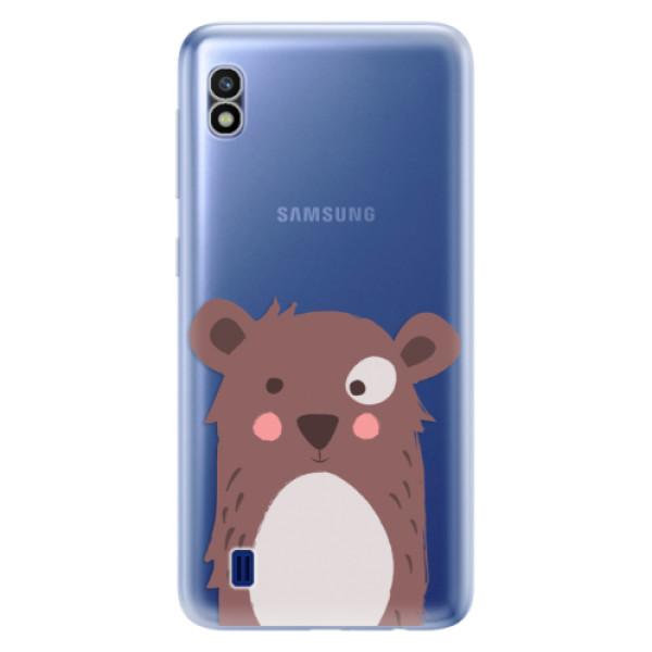 Odolné silikonové pouzdro iSaprio - Brown Bear - Samsung Galaxy A10