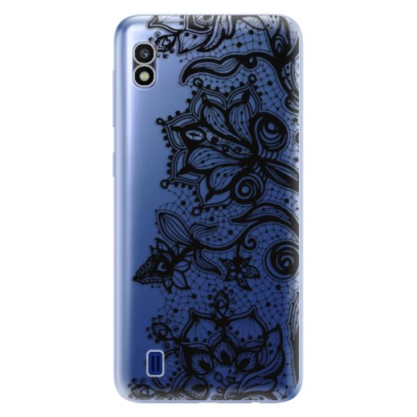 Odolné silikonové pouzdro iSaprio - Black Lace - Samsung Galaxy A10