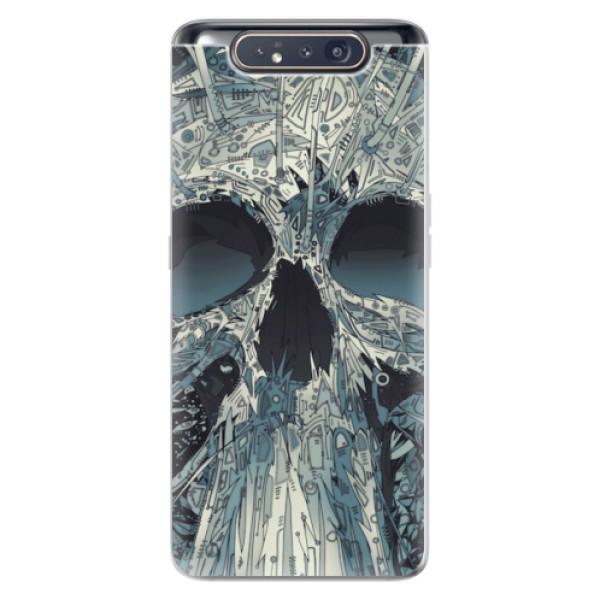 Odolné silikonové pouzdro iSaprio - Abstract Skull - Samsung Galaxy A80