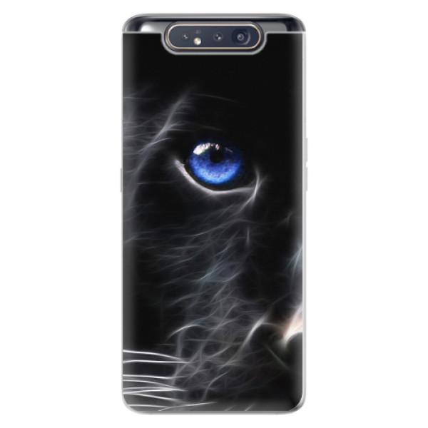 Odolné silikonové pouzdro iSaprio - Black Puma - Samsung Galaxy A80