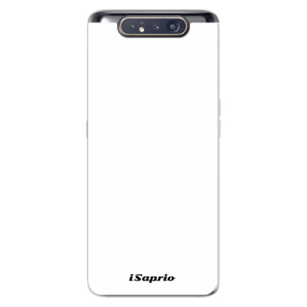 Odolné silikonové pouzdro iSaprio - 4Pure - bílý - Samsung Galaxy A80