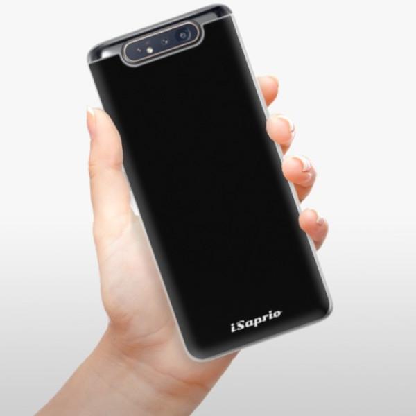 Odolné silikonové pouzdro iSaprio - 4Pure - černý - Samsung Galaxy A80