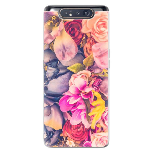 Odolné silikonové pouzdro iSaprio - Beauty Flowers - Samsung Galaxy A80