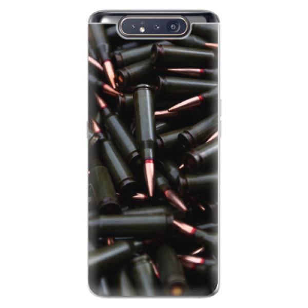 Odolné silikonové pouzdro iSaprio - Black Bullet - Samsung Galaxy A80
