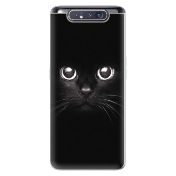 Odolné silikonové pouzdro iSaprio - Black Cat - Samsung Galaxy A80