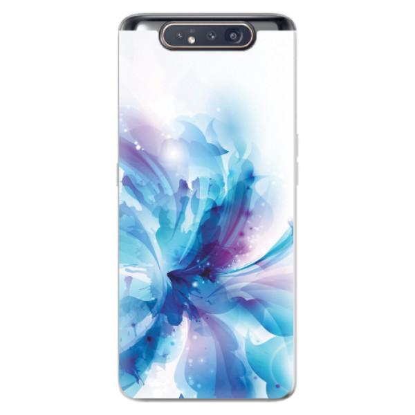 Odolné silikonové pouzdro iSaprio - Abstract Flower - Samsung Galaxy A80