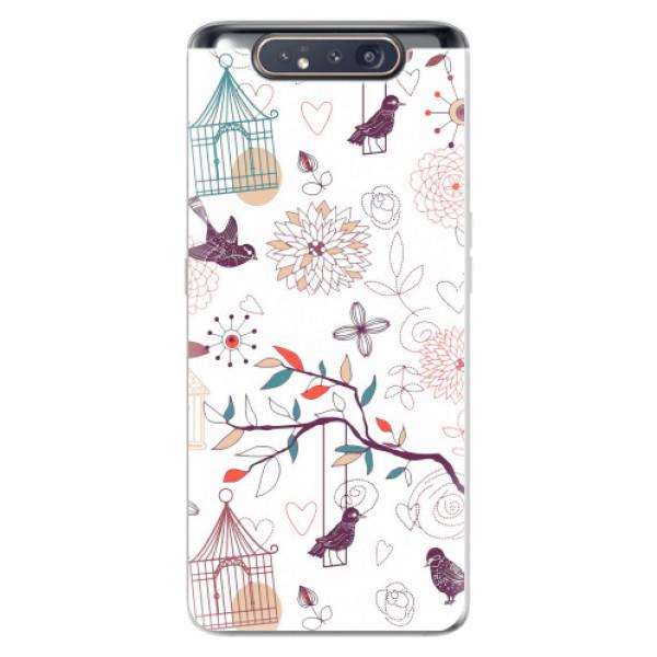 Odolné silikonové pouzdro iSaprio - Birds - Samsung Galaxy A80