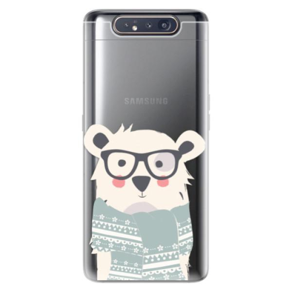 Odolné silikonové pouzdro iSaprio - Bear with Scarf - Samsung Galaxy A80