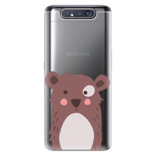 Odolné silikonové pouzdro iSaprio - Brown Bear - Samsung Galaxy A80