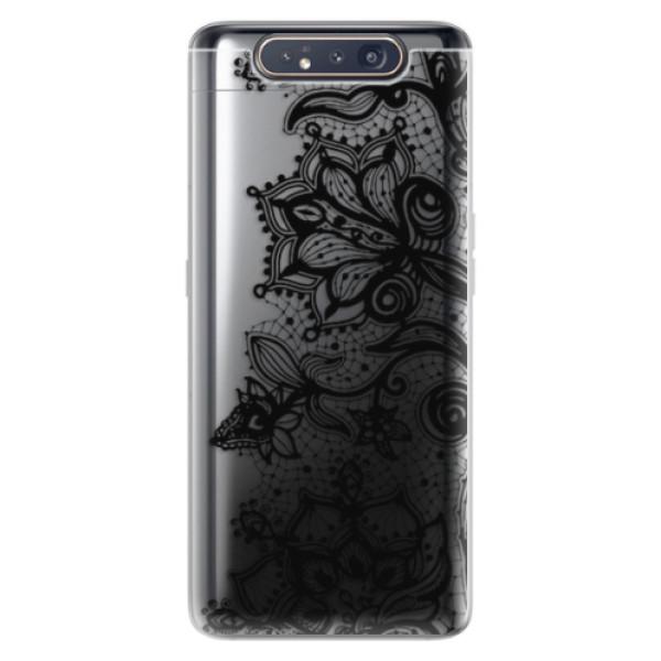 Odolné silikonové pouzdro iSaprio - Black Lace - Samsung Galaxy A80