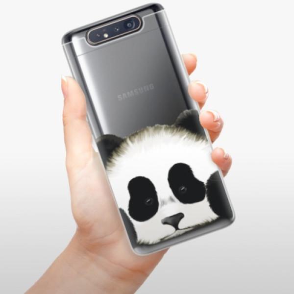 Odolné silikonové pouzdro iSaprio - Sad Panda - Samsung Galaxy A80