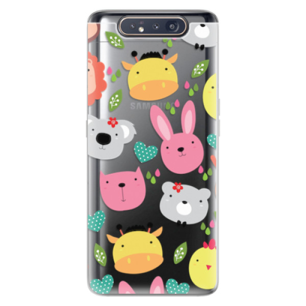 Odolné silikonové pouzdro iSaprio - Animals 01 - Samsung Galaxy A80
