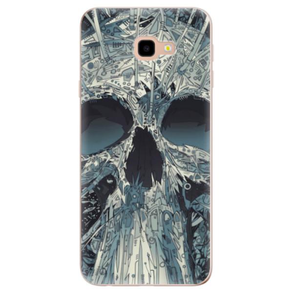 Odolné silikonové pouzdro iSaprio - Abstract Skull - Samsung Galaxy J4+
