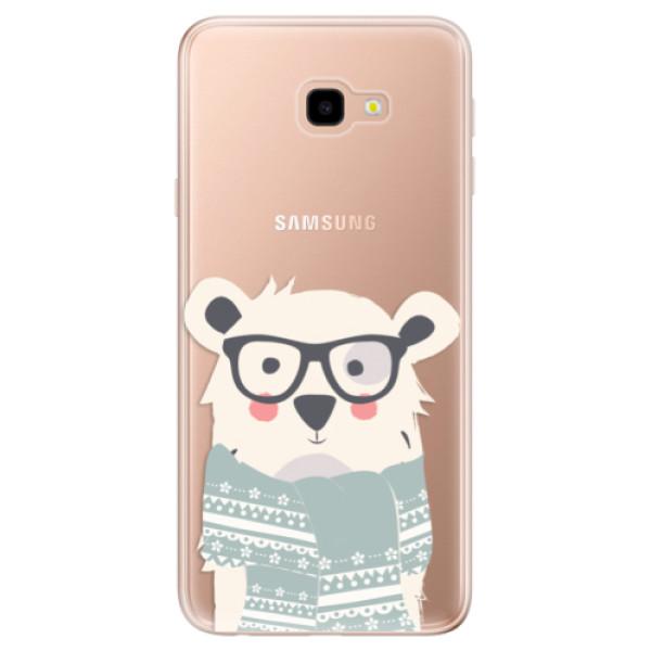 Odolné silikonové pouzdro iSaprio - Bear with Scarf - Samsung Galaxy J4+