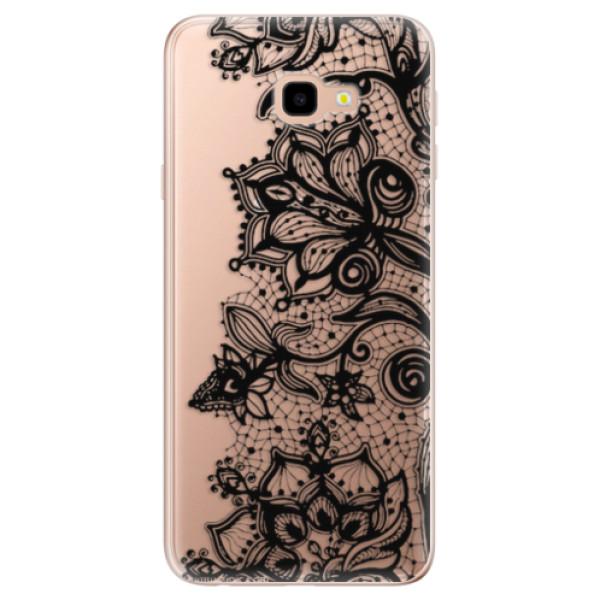 Odolné silikonové pouzdro iSaprio - Black Lace - Samsung Galaxy J4+