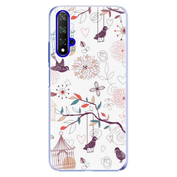 Plastové pouzdro iSaprio - Birds - Huawei Honor 20