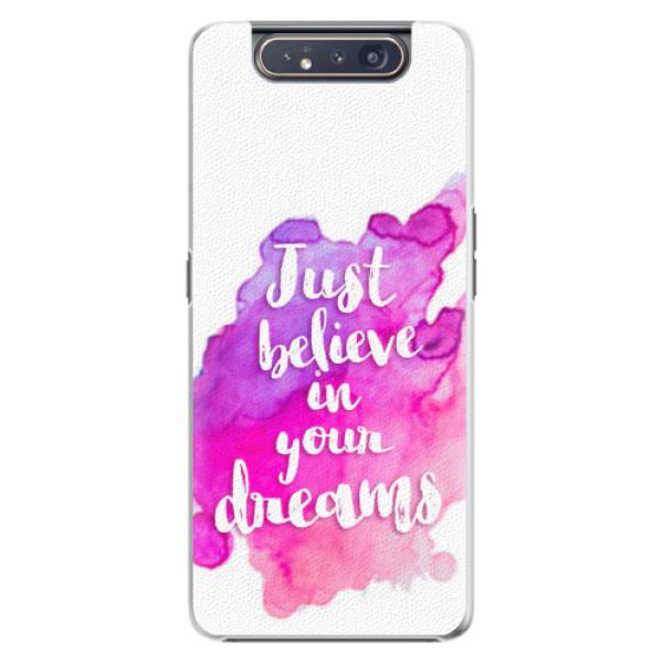 Plastové pouzdro iSaprio - Believe - Samsung Galaxy A80