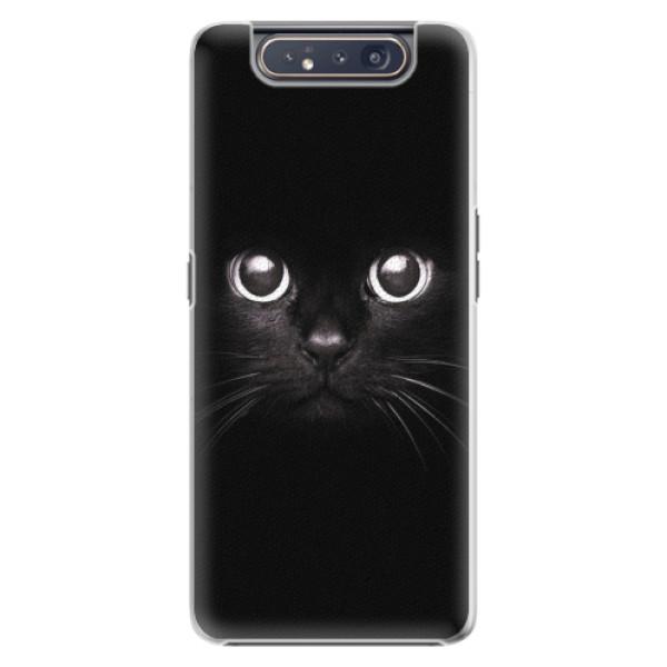 Plastové pouzdro iSaprio - Black Cat - Samsung Galaxy A80