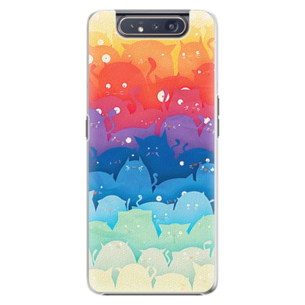 Plastové pouzdro iSaprio - Cats World - Samsung Galaxy A80
