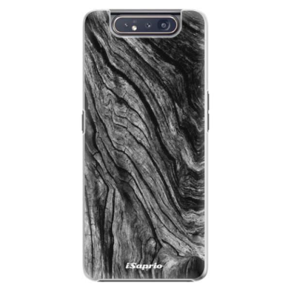 Plastové pouzdro iSaprio - Burned Wood - Samsung Galaxy A80