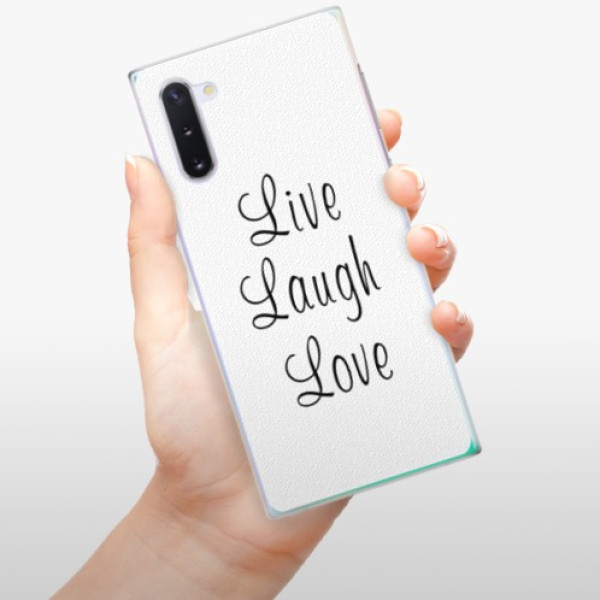 Plastové pouzdro iSaprio - Live Laugh Love - Samsung Galaxy Note 10
