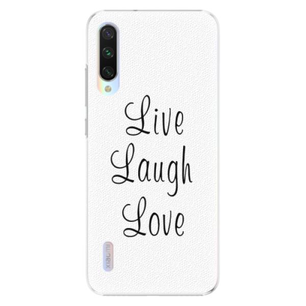 Plastové pouzdro iSaprio - Live Laugh Love - Xiaomi Mi A3