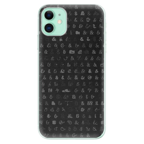Odolné silikonové pouzdro iSaprio - Ampersand 01 - iPhone 11